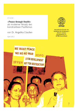 "IPPNW-Studie ""Peace through Health"""