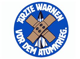 """IPPNW-Aufkleber """"Ärzte warnen vor dem Atomkrieg"""""""