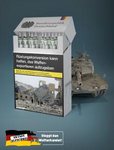 Postkarte Rüstungskonversion kann helfen, das Waffenexportieren aufzugeben